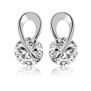 Swarovski Crystal Swirl Earrings